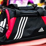 Спортивная дорожная сумка ADIDAS большая 53х25х30см черная фото