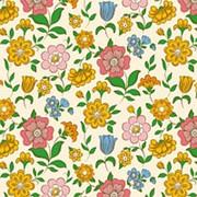 "Упаковочная бумага Миленд ""Цветы-4"", 10 листов в рулоне, 70 х 100 см., 90 г/м2, 10-05-0023 фото"
