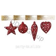 Декор Звезда,Конус,Сердце крас. ажурные фото