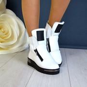 Женские зимние кожаные ботинки в расцветках. ДС-10-1118 фото
