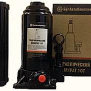 БелАвтоКомплект БАК.00032 Домкрат гидравлический одноштоковый, бутылочный 10 тонн 200-390 мм (TUV, 2 клапана) фото