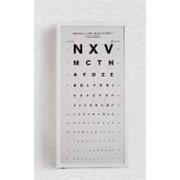 Буквенная таблица для проверки зрения с иллюминатором фото
