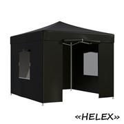 Тент садовый Helex 4332 3x3х3м полиэстер черный фото