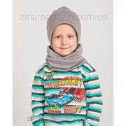 Детский комплект шапка + баф 10 фото