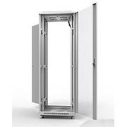 """19"""" напольный шкаф ПРЕМИУМ 42U 600х800 мм, передняя дверь стекло фото"""