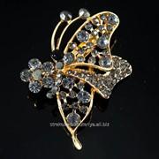 Брошь ''Крыло бабочки'', (6 см) 222119(2) фото