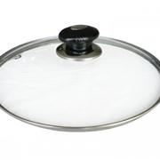 Крышка стеклянная 24 см. для сковороды фото