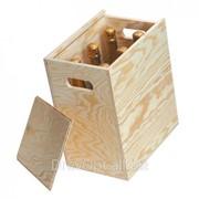 Сувенирная деревянная коробка-пенал для вина фото