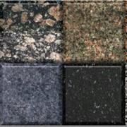 Плитка и слябы разной фактуры (полированная, термообработанная, бучардированная) и размеров, с возможностью изготовления фигурных профилей различных форм и сложности высотой до 300 мм. фото