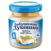 Б.лукошко пюре треска с картофелем (с 8 мес) 100г фото