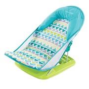 Лежак Summer Infant Лежак с подголовником для купания Deluxe Baby Bather, голубой/зигзаг фото