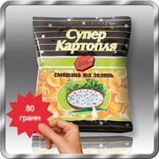 Картофельные снеки со вкусом сметаны и зелени 80 грамм фото