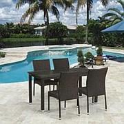 Комплект плетеной мебели T256A/Y380A-W53 Brown 4Pcs фото