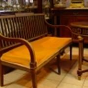 Набор стол и диван с бронзой в стиле жакоб фото