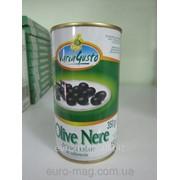 Оливки черные Varia Gusto Olive Nere 350 г фото