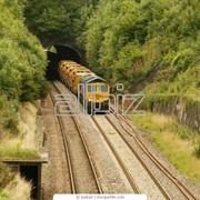 Перевозка грузов по железной дороге. фото
