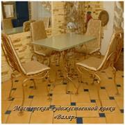 Кованая мебель: кованый стол, кованые стулья. фото