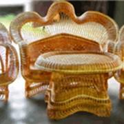 Мебель плетеная из тростника. фото
