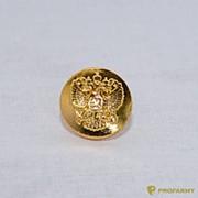 Пуговица 14 мм металлическая золотистого цвета ФМ-171 фото