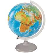 Глобус физико-политический, 25 см, с подсветкой, на кругл. подст. (Глобусный мир) фото