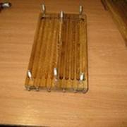 Форма деревянная для хозяйственных свечей диаметр 18мм, высота Свеча 230 мм, в форме 20 штук фото