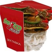 Доставка блюд из лапши - Харусаме с овощами и говядиной фото