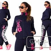 Женский спортивный костюм из двунитки, рисунок (накатка) 2 расцветки фото