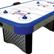 Игровой стол - аэрохоккей Cobra 7 ф (серебристо-синий, эл. табло) фото