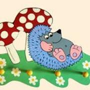 Вешалка настенная «Ежик с грибочком » фото