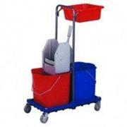 Bol Equipment Уборочная тележка двухведерная на металлической базе фото