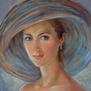 Женский портрет по фото пастелью,р-р:40*50 фото