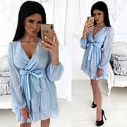 Нежное шифоновое платье женское (4 цвета) - Голубой АА/-1239 фото
