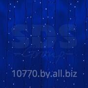 """Гирлянда """"Светодиодный Дождь"""" 2х3м, постоянное свечение,черный провод, 220В, диоды СИНИЕ, NEON-NIGHT фото"""