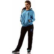 Спортивный костюм YSL голубой+черный фото