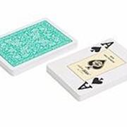 "Карты ""Fournier 2818"" 100% пластик, зеленая рубашка фото"