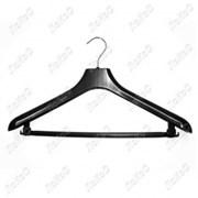 Вешалка универсальная для пальто и костюмов плоская перекладина, L=42см, ширина плеча 5,5см, С-043 фото