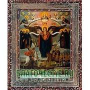 Благовещенская икона Азовская Богородица, копия старой иконы, печать на дереве Высота иконы 11 см фото