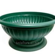 """Вазон пластиковый """"Миса Грация"""" зелёный 15,5 л 1004-012 фото"""