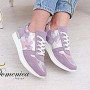 Замшевые кеды со вставками сетки камуфляж в расцветках фото