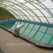Прозрачный поликарбонатный пластиковый павильон для бассейна фото