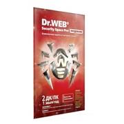 Антивирус Dr.Web Security Space Pro. Продление. Лицензионный сертификат для 2 ПК на 1 год. фото