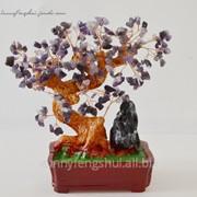 Сувенир денежное дерево, аметист фото
