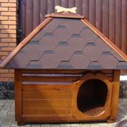 Будки для собак деревянные декоративные фото