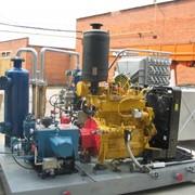 Компрессорное оборудование с газовым двигателем фото