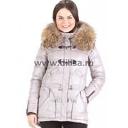 Куртка с мехом Mishele 9515 серый светлый фото