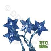 Гирлянда Звезда 30диодов LED голубой фото