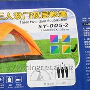 Палатка 3 места 2-х тентовая фото