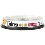 Компакт диск CD-R 700мБ Mirex Голд в тубе 10 шт. фото