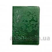 Обложка кожа для паспорта Tree зеленый фото