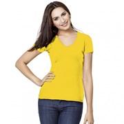 Женская футболка-стрейч с V-воротом StanVictoryWomen 07W Жёлтый M/46 фото